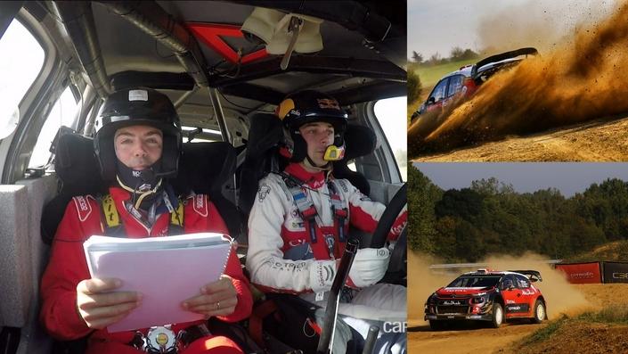 L'espace de quelques minutes fortes en sensations, notre journaliste a joué les copilotes de Stéphane Lefebvre à bord de la C3 WRC.