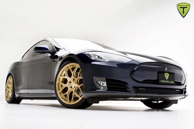 """TSportline, l'""""AMG"""" de Tesla, présente son modèle de démonstration sur base de Model S"""