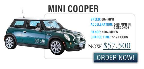 Hybrid Technologies : baisse du prix de vente de ses véhicules électriques Smart Car, Mini Cooper, PT Cruiser en 2008