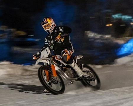 "La KTM Freeride E-SX façon ""Holiday on ice"""