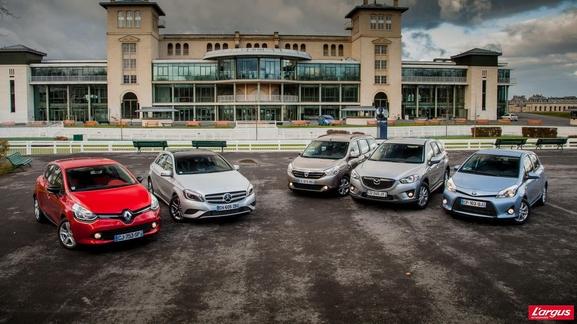 Trophées 2013 de L'argus : les Renault Clio 4, Mercedes Classe A, Dacia Lodgy, Mazda CX-5 et Toyota Yaris récompensés