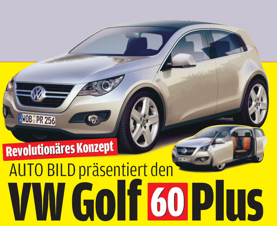 volkswagen golf 60 plus concept un avant go t de la future golf vi. Black Bedroom Furniture Sets. Home Design Ideas