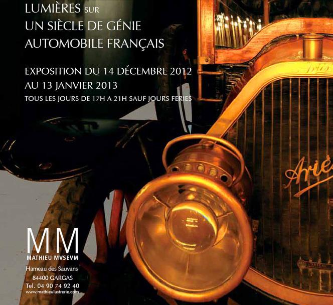 Exposition Lumières sur un siècle de génie automobile français