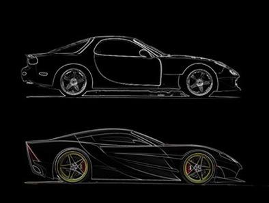 X3 Concept: sur base de Mazda RX-7