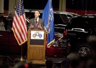 Hillary Clinton/Barack Obama : un de leurs thèmes phares, les voitures écolos !