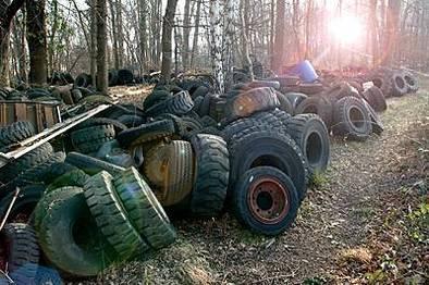 France : lancement de l'opération nettoyage des pneus usagés. Recyclage toute !