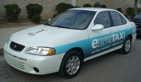 Mexico : eLECTROTAXI, des taxis Nissan Sentra électriques