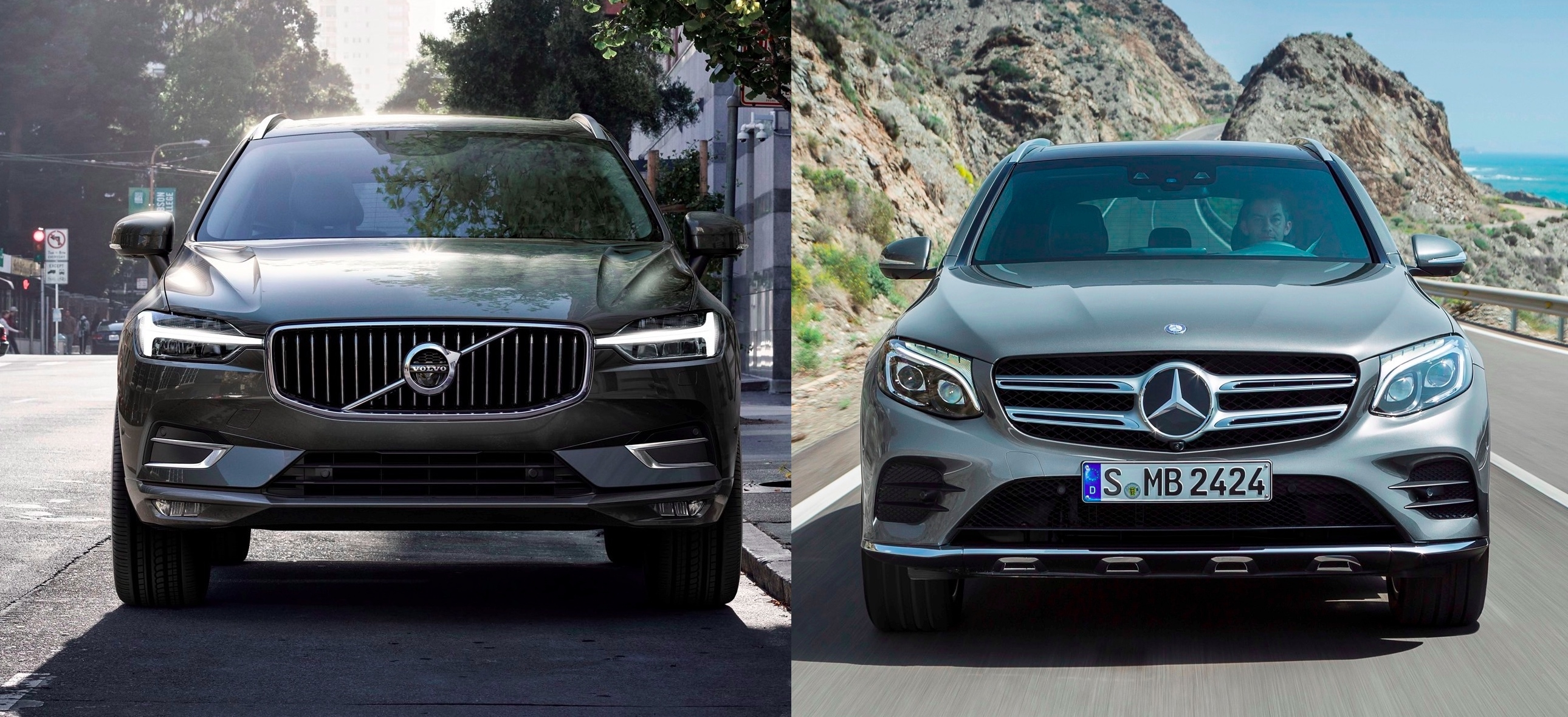match du salon de gen ve 2017 nouveau volvo xc60 vs mercedes glc. Black Bedroom Furniture Sets. Home Design Ideas