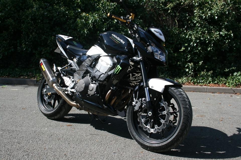 En direct du Festival de la Moto : Proto Kawasaki Z50 Monster Energy by AD Koncept
