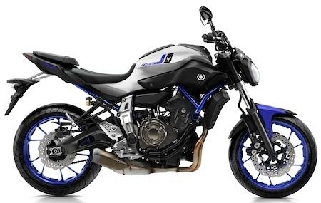 Yamaha MT-07: trois nouveaux coloris pour 2016