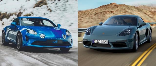 Match du Salon de Genève 2017 - Nouvelle Alpine A110 vs Porsche 718 Cayman