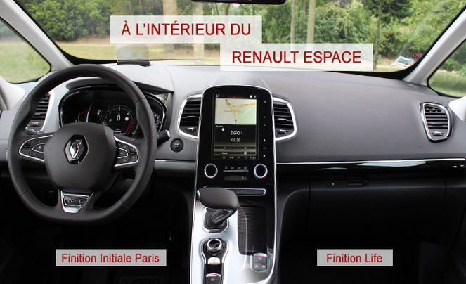 a l 39 int rieur du renault espace 5. Black Bedroom Furniture Sets. Home Design Ideas
