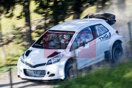 La Toyota Yaris WRC en action
