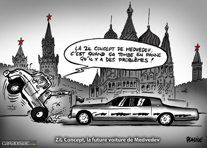 Le dessin du jour - La Zil de Medvedev