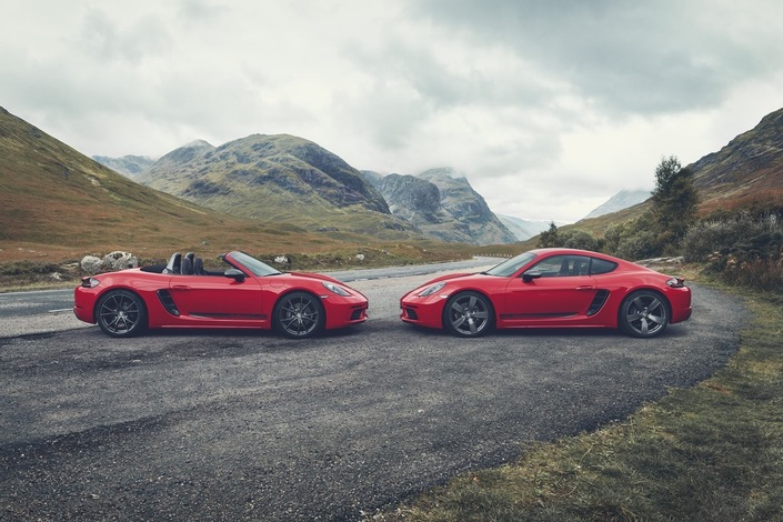 Porsche dévoile les 718 Cayman et Boxster T