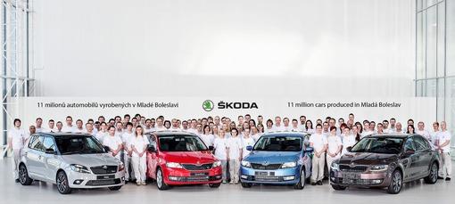 Skoda: 11 millions de voitures produites à Mladá Boleslav