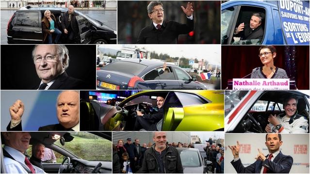 Onze candidats visent la banquette arrière de la Citroën C6 présidentielle. Le nom du vainqueur sera connu le 7 mai.