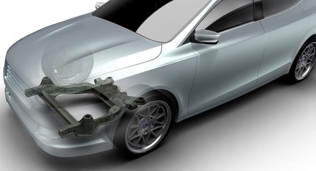 Ford présente un berceau moteur en fibre de carbone