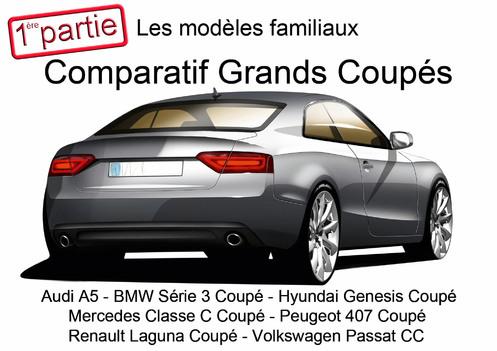 Comparatif grands coupés : les modèles familiaux