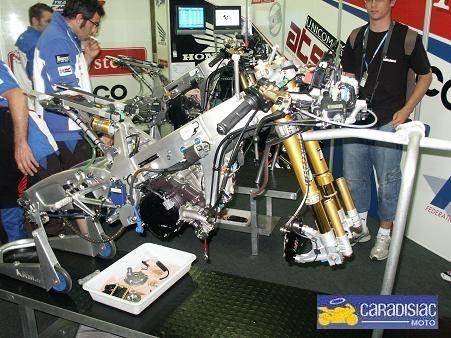 Visite de Caradisiac Moto dans l'équipe de France FFM