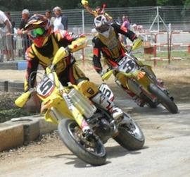 Supermotard championnat de France 2011, Roche de Glun : Stéphane Blot.