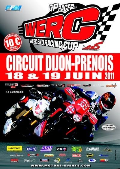 WERC GP RACER : 3ème manche ce week-end (18 et 19 juin) sur le circuit de Dijon-Prénois.