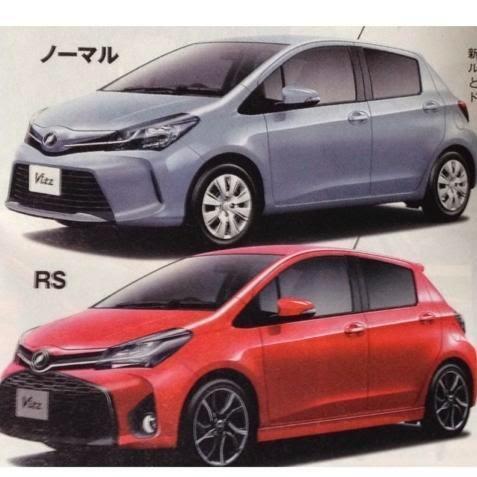 La Toyota Yaris restylée en fuite