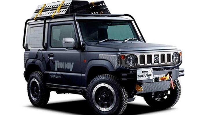 Suzuki Jimny Sierra concept : une benne et du bois
