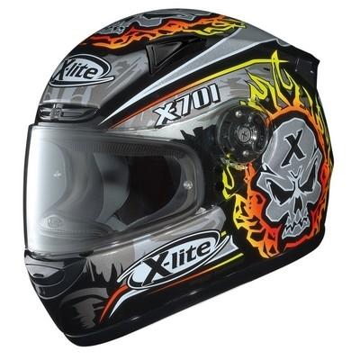 X-lite X-701 Scary... Tête de mort et Flamming...