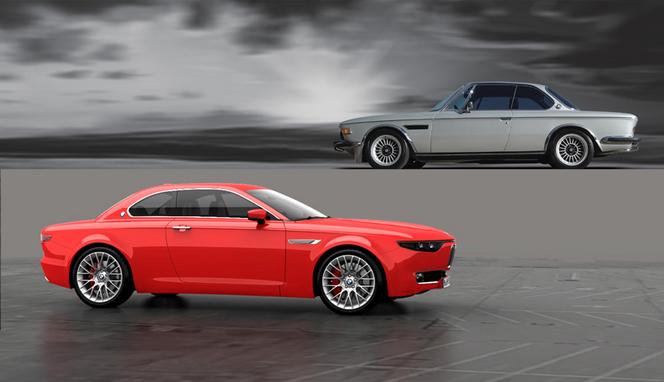 BMW CS Vintage concept par David Obendorfer