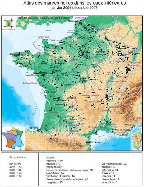 Association Robin des Bois : les huiles de vidange provoquent des mini-marées noires dans les cours d'eaux en France