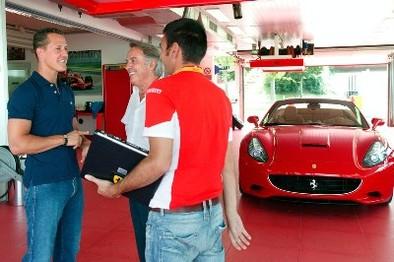 Michael Schumacher adore la nouvelle California (jusque-là tout est normal)...