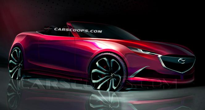 Futur roadster Mazda MX-5 : le sketch en avance