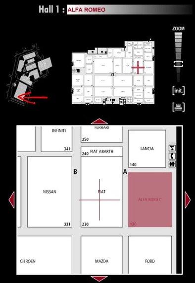 Guide des stands : Alfa Romeo - Hall 1
