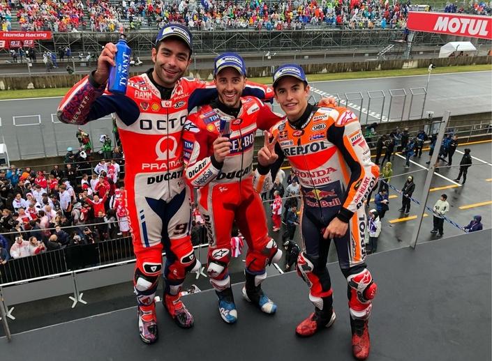 MotoGP - Japon J.3: Dovizioso marche sur l'eau et noie Márquez