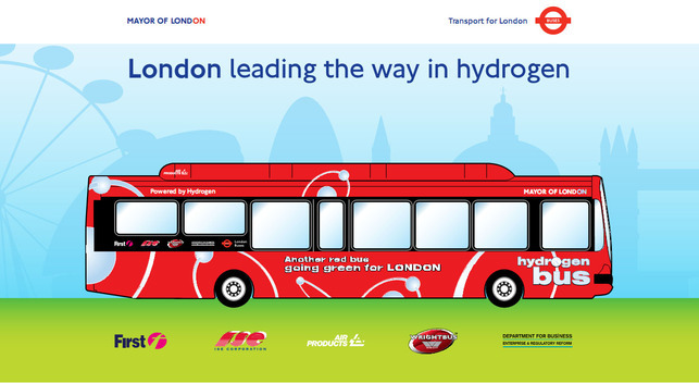 Londres/10 bus à l'hydrogène en 2010 : Air Products et Transport for London main dans la main