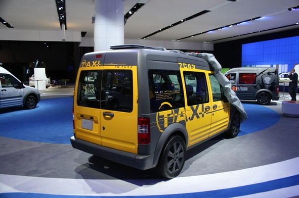 Salon de New York 2008 : Ford Transit Connect Taxi Concept