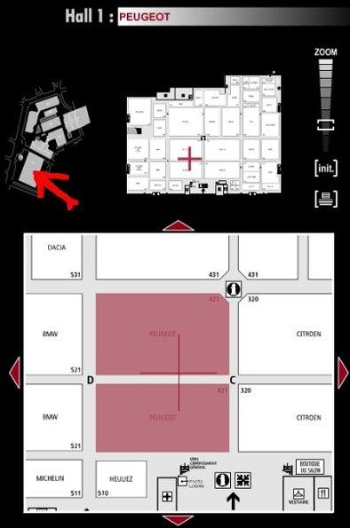Guide des stands : Peugeot - Hall 1