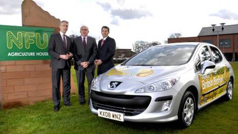 Royaume-Uni : l'Union Nationale des Fermiers opte pour une Peugeot 308 au biodiesel
