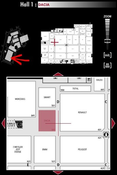 Guide des stands : Dacia - Hall 1