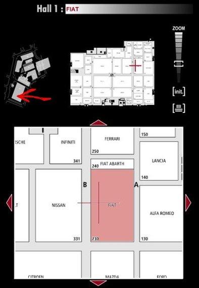 Guide des stands : Fiat - Hall 1