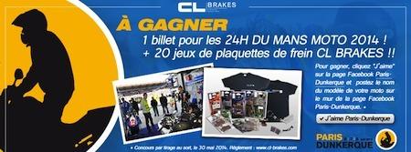 Concours CL Brakes/ Paris-Dunkerque 2014: des places pour les 24h du Mans à gagner