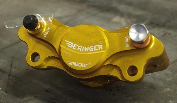 Test Beringer frein arrière (maître-cylindreet étrier): l'essai