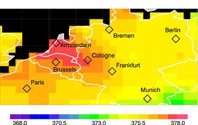 European Space Agency/Capteur Sciamachy à bord d'Envisat : la répartition des émissions de CO2 à la loupe !