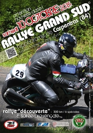 Rallye Grand Sud 2015: le 10 octobre à Carpentras (84)