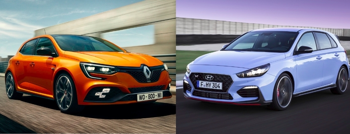 Premier match: Nouvelle Renault Mégane RS vs Hyundai i30 N