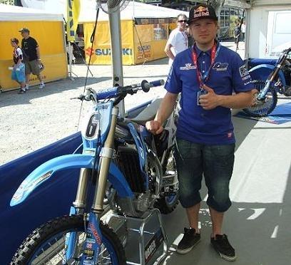 La 450 de Tanel Leok, pilote TM en championnat du monde MX 1