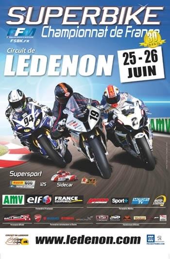 Championnat de France Superbike à Ledenon : 25 et 26 juin
