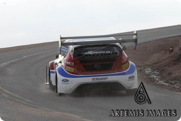 Pikes Peak : découvrez la Ford Fiesta de Grönholm en essais libres