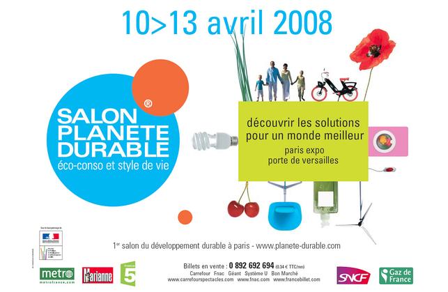 """Paris : le Salon Planète Durable """"éco-conso et style de vie"""" démarre demain"""
